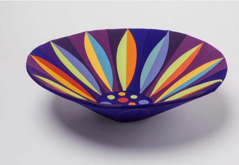 Multicolor flower bowl side view