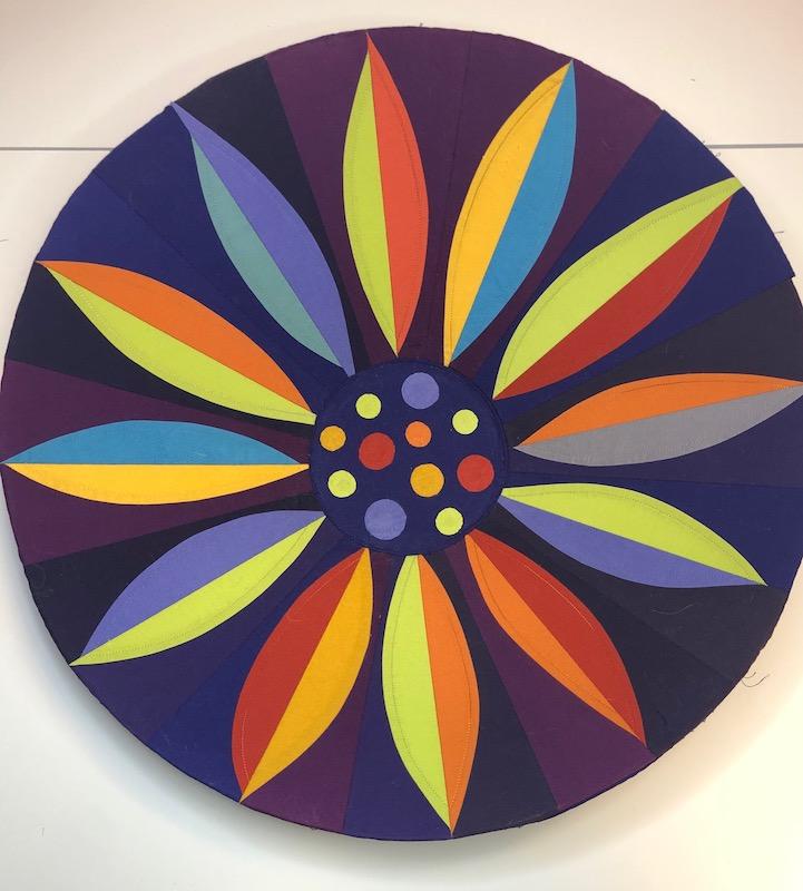 Multicolor fabric bowl