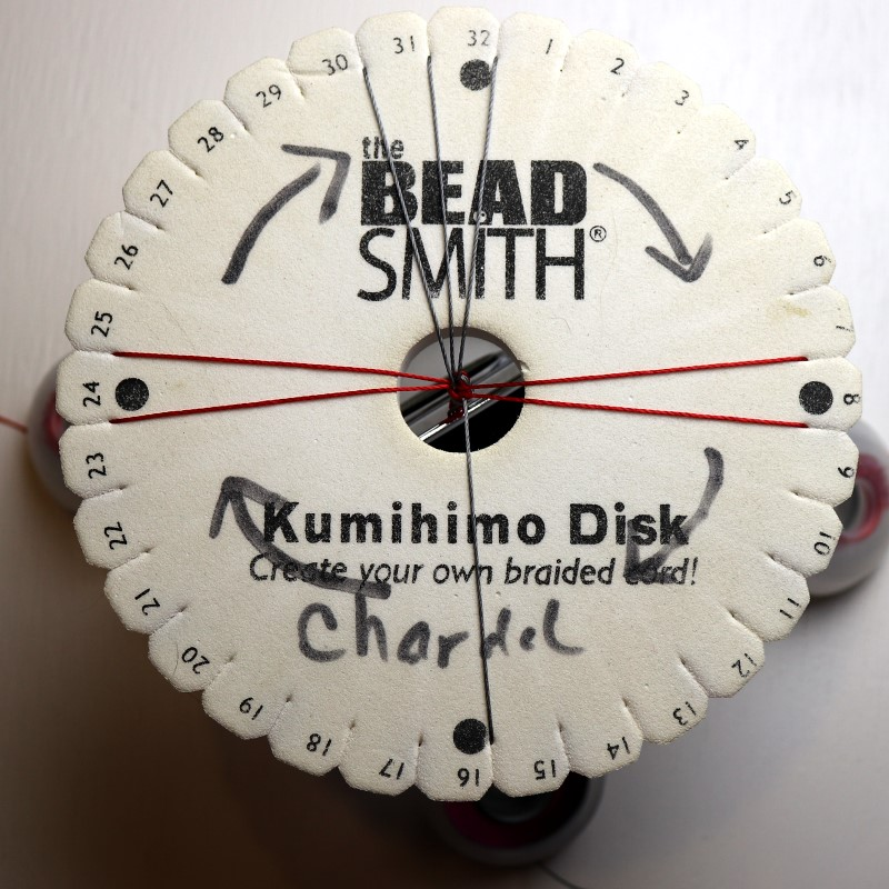 How to Do Kumihimo with Beads Left Cord Up