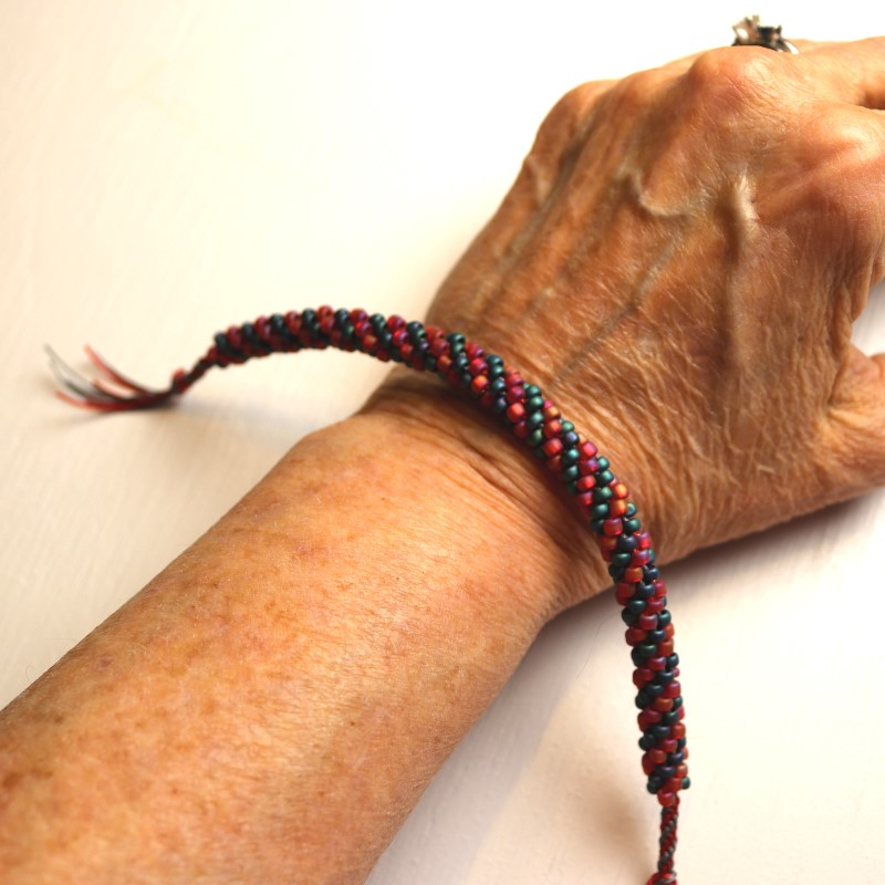 How to Do Kumihimo with Beads Bracelet Ready for Clasp