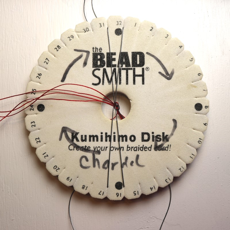 How to Do Kumihimo With Beads Place North-South Cords