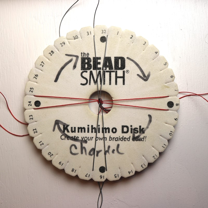 How to Do Kumihimo with Beads Place East-West Cords