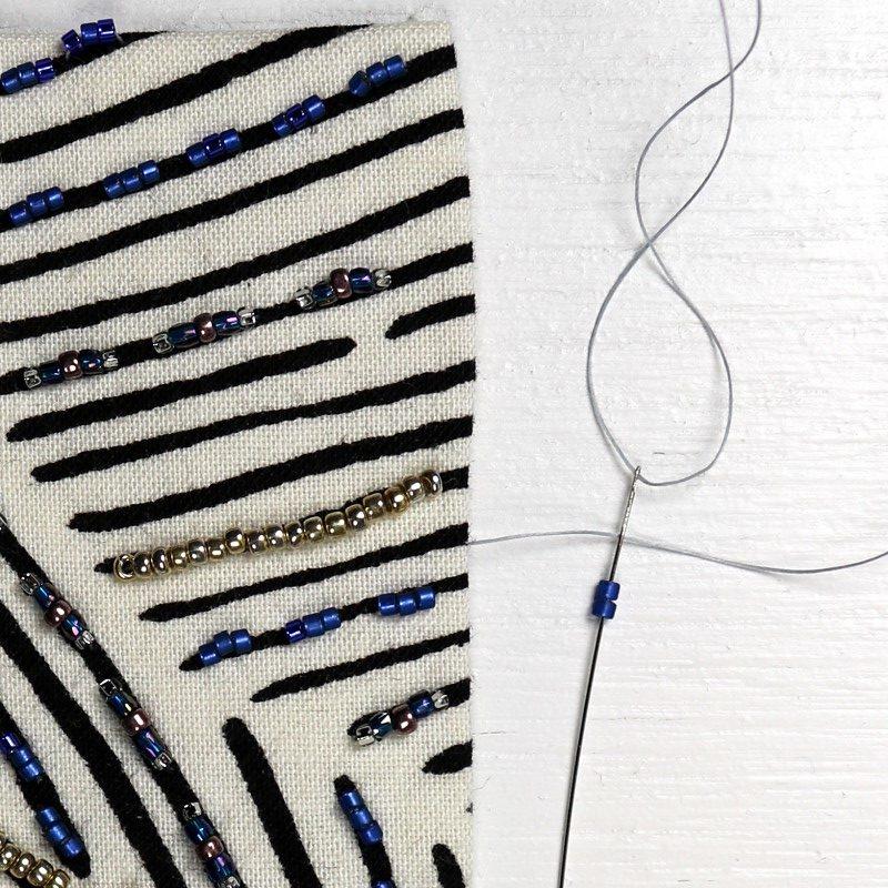 Bead Embroidery Edge Brick Stitch-2-Pick Up 2 Beads