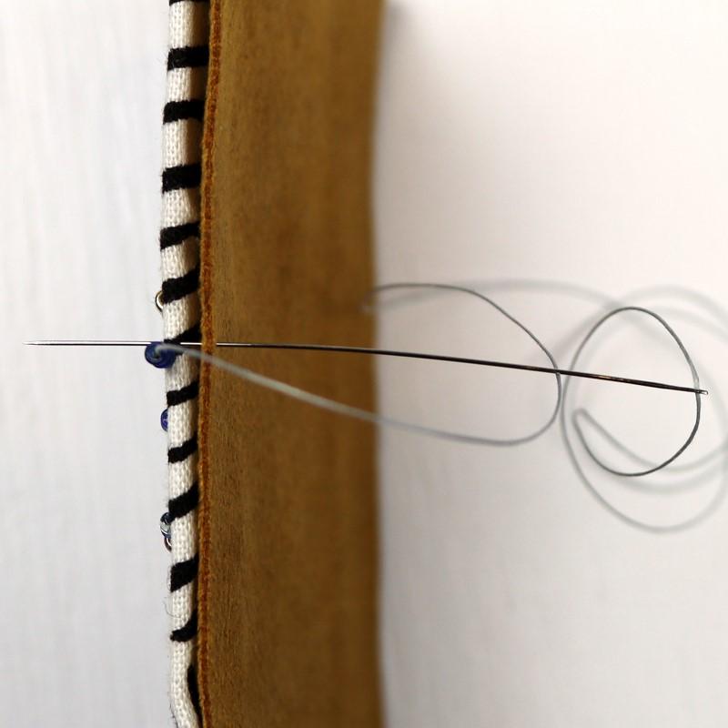 Bead Embroidery Brick Stitch Edge Brick Stitch-3-Needle Back to Front Catching All Layers