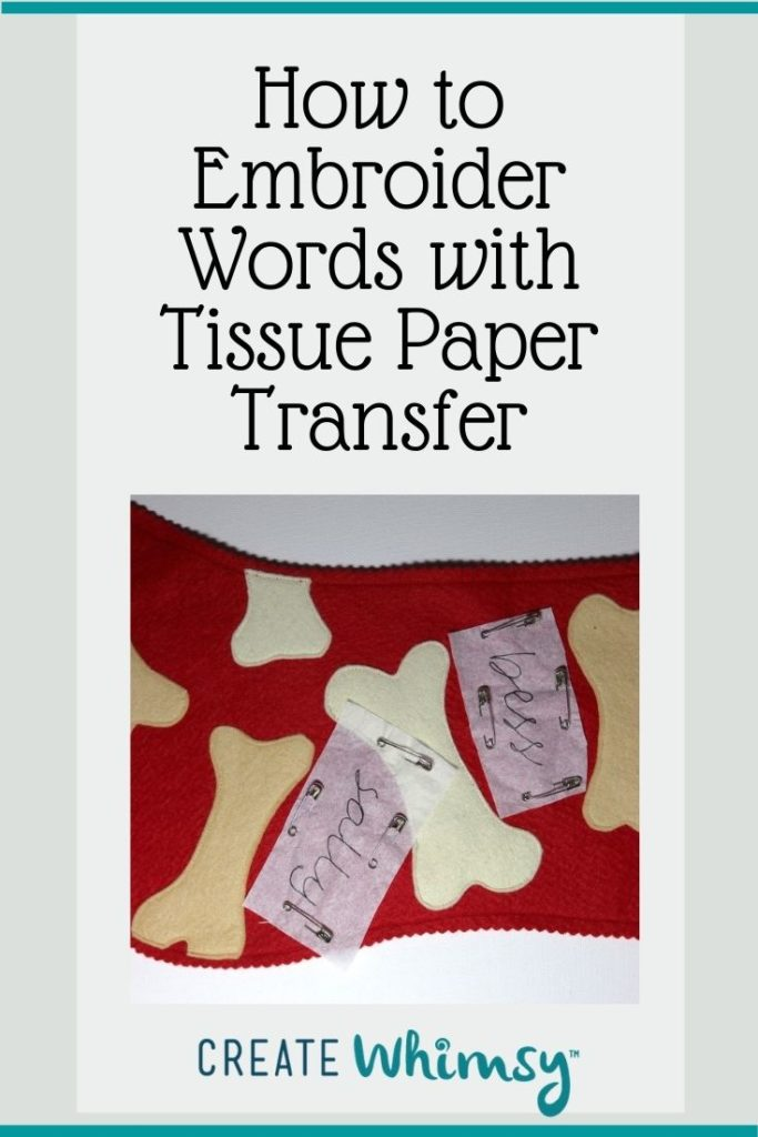 Embroider with Tissue Paper Transfer Pin 2