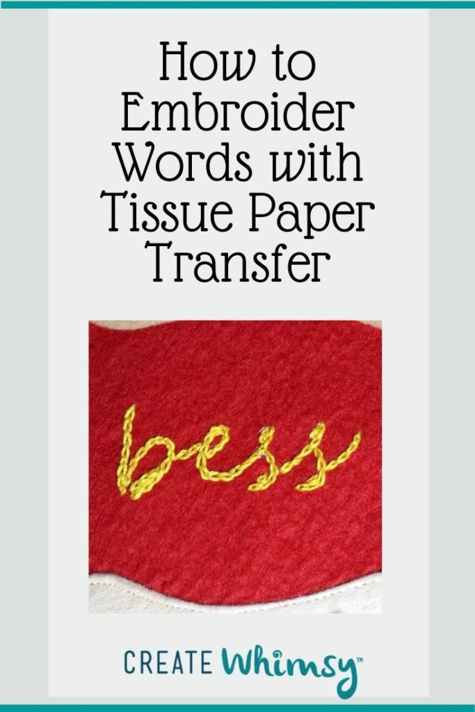Embroider with Tissue Paper Transfer Pin 3