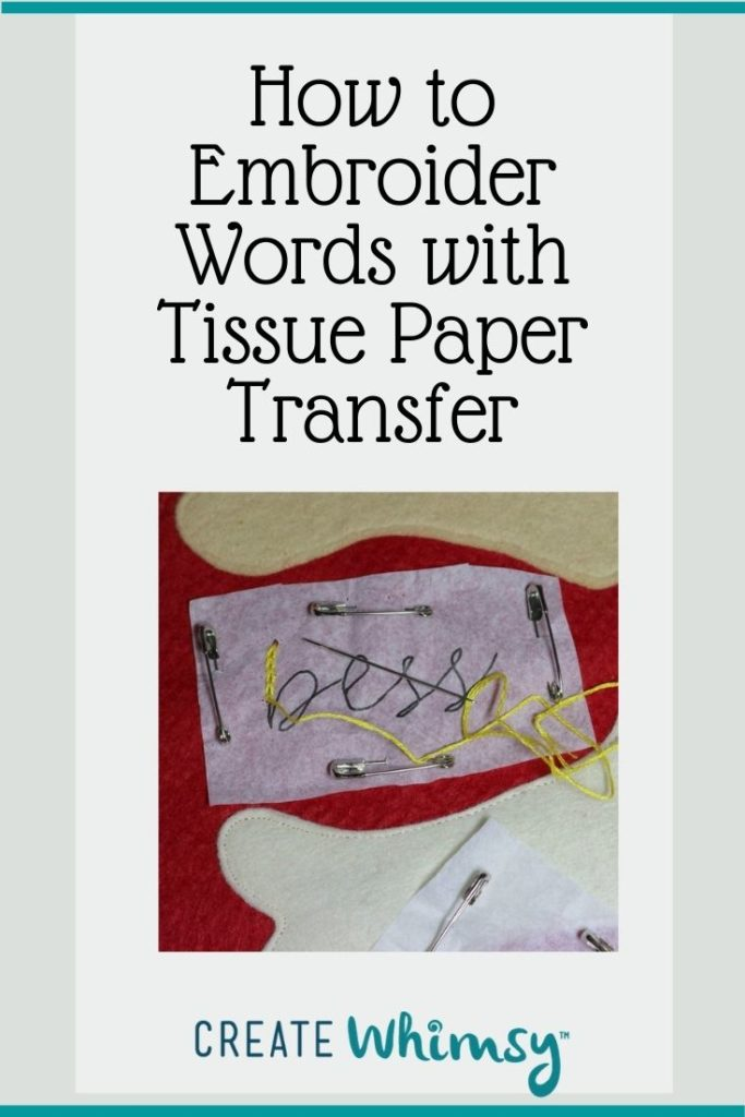 Embroider with Tissue Paper Transfer Pin 4