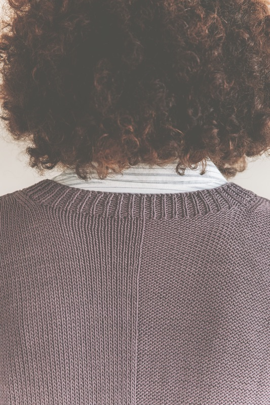 Back of sweater detail