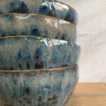 Blue ceramic bowls