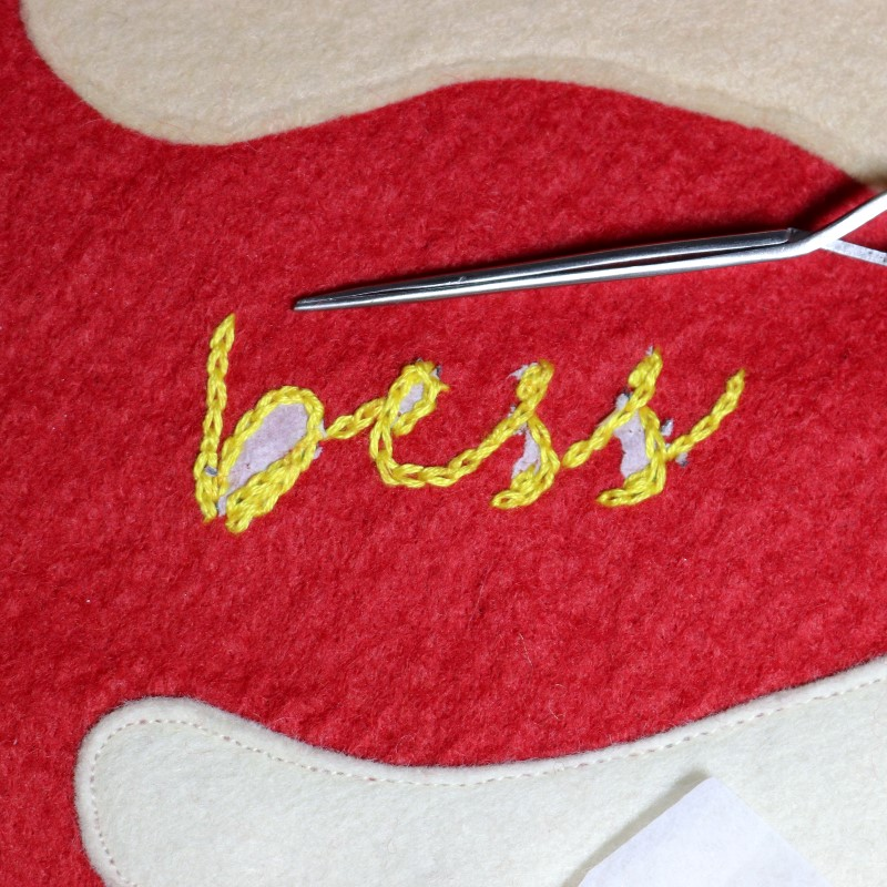 How to Embroider Letters-Gently Remove Tissue