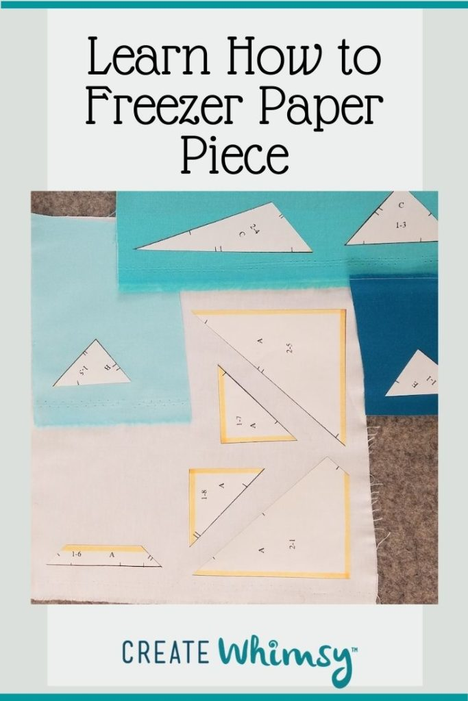 How to freezer paper piece Pin 2