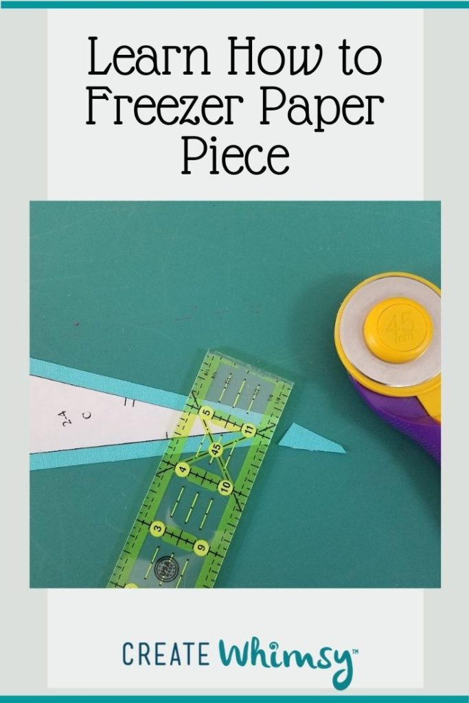 How to freezer paper piece Pin 3