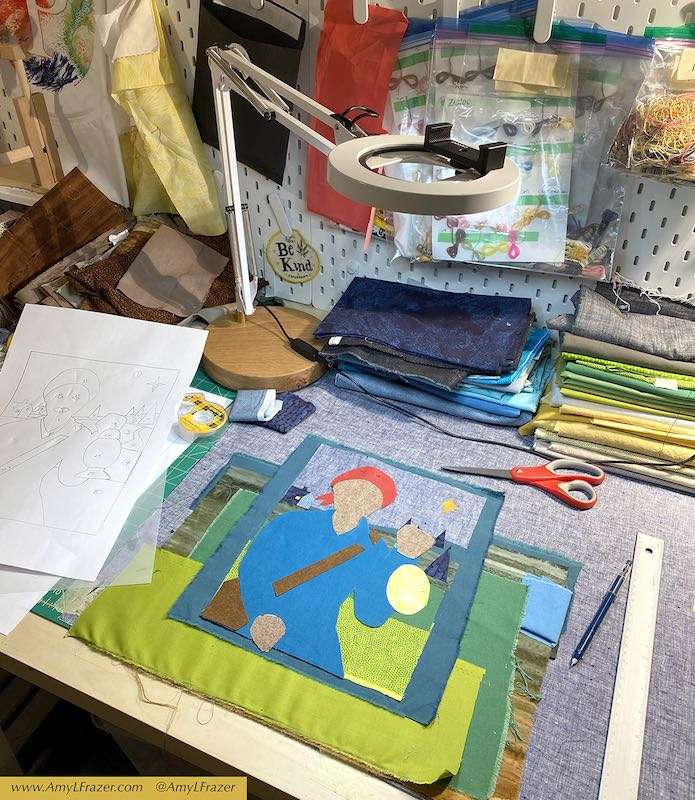 Amy's work space