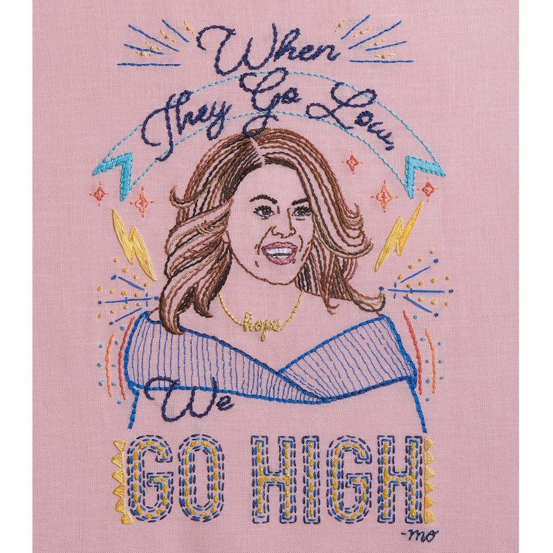 Michele Obama embroidery