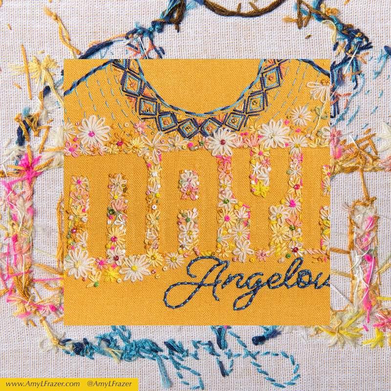 Maya Angelou embroidery