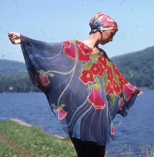 Silk Caftan painted by Dianne Hricko