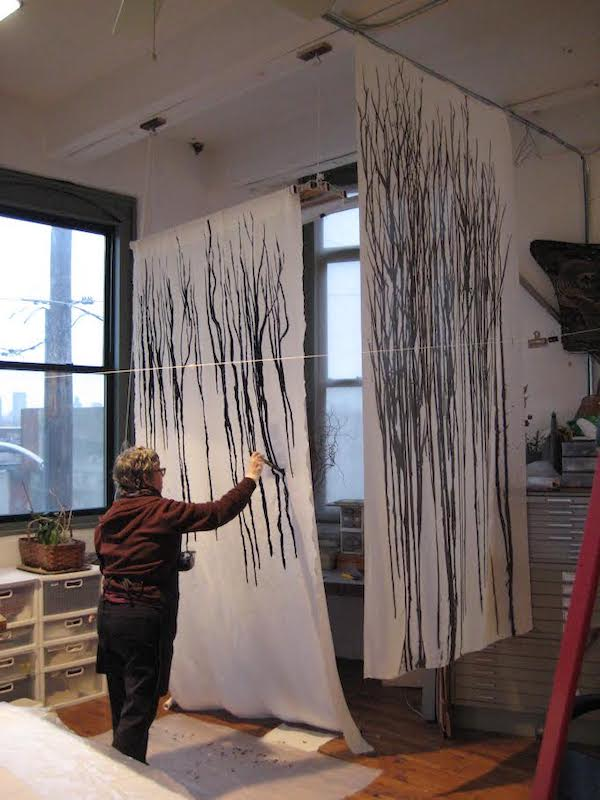 Dianne dyeing Winter Foliage