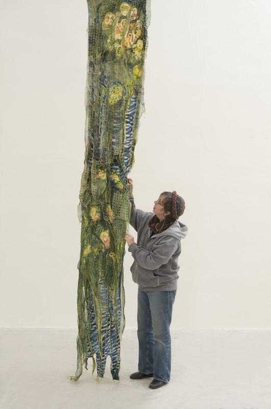 Dianne at work on Bloom