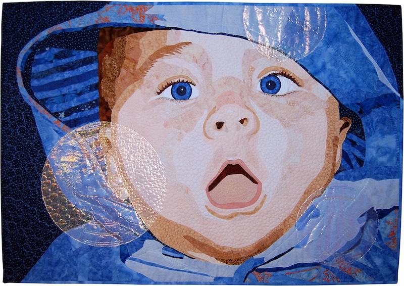 Bubbles art quilt