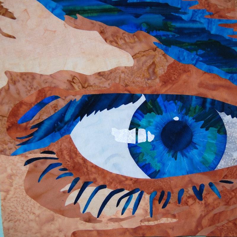 Eye art quilt