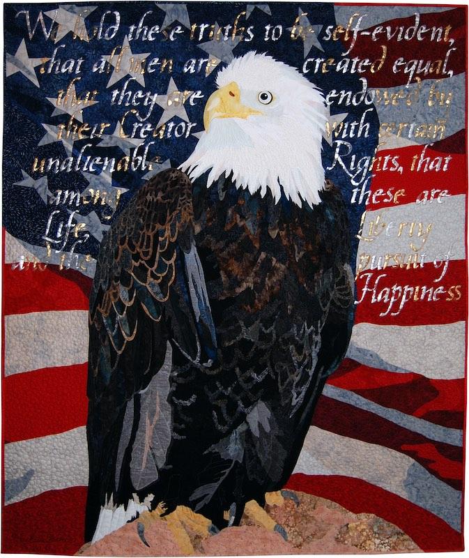 Freedom art quilt