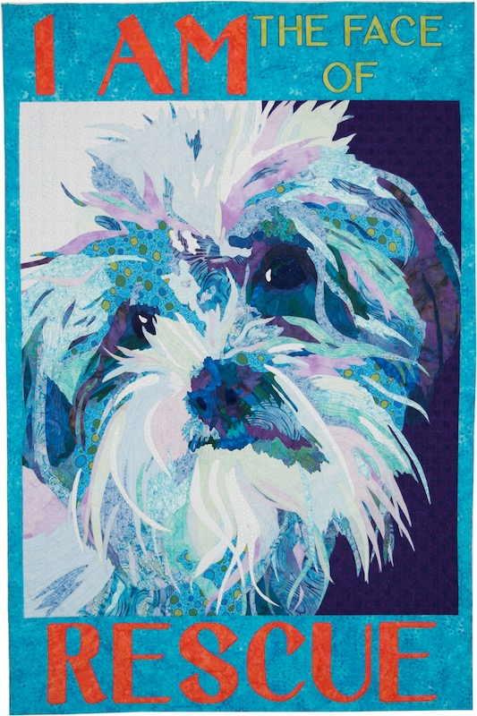 I am the Face of Rescue art quilt