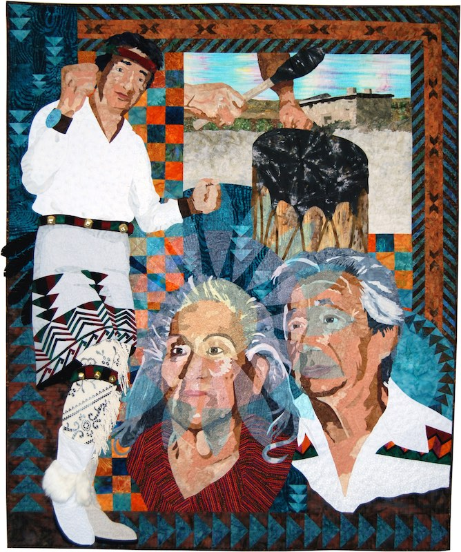 The Pueblo Culture art quilt