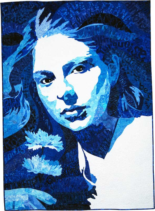 Oh So Blue art quilt