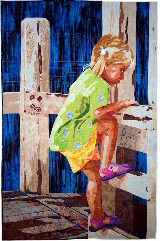 Sweet Determination art quilt