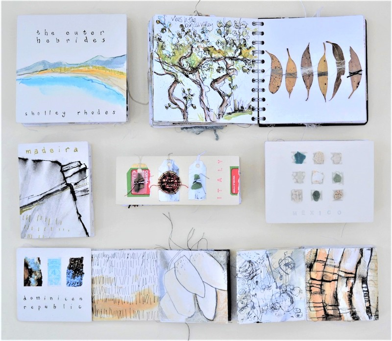 Shelly's travel sketchbooks