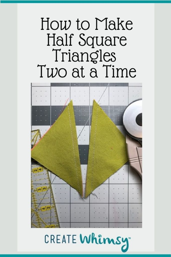Half Square Triangles two at a time Pinterest image 1