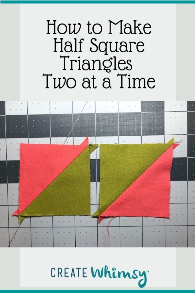 Half Square Triangles two at a time Pinterest image 2