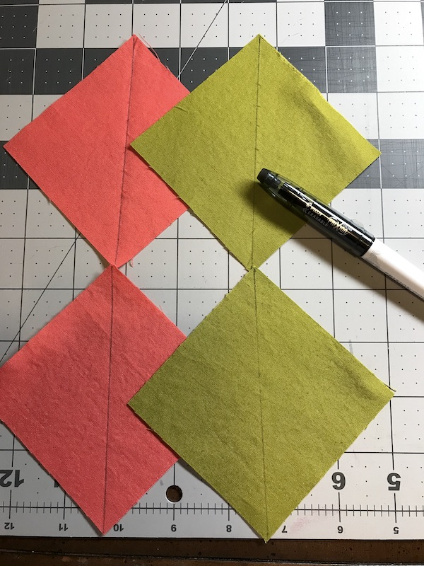 Center line marked for sewing