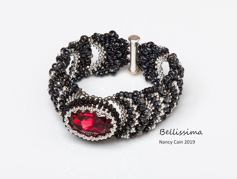 Bellissima Black and Scarlet bracelet