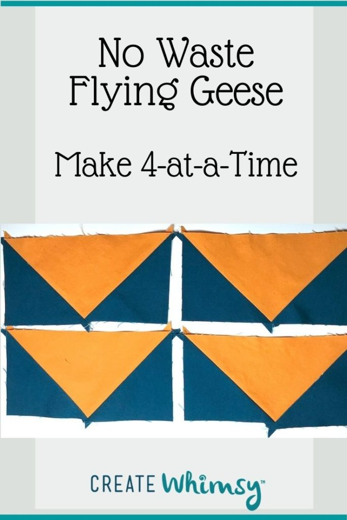 No Waste Flying Geese Pinterest Image 1