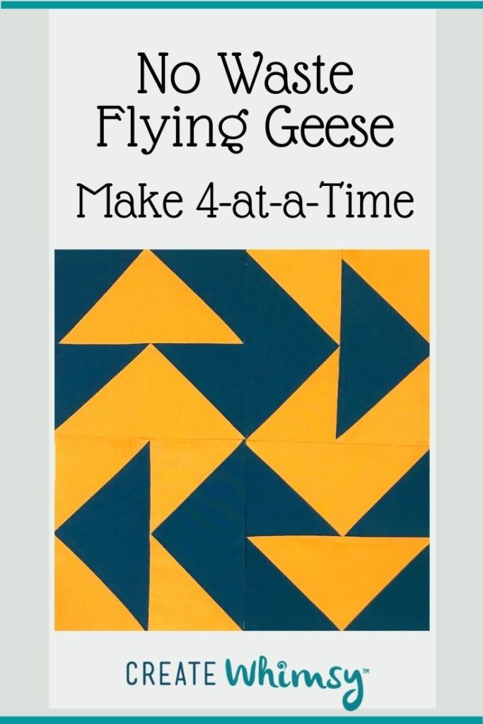 No Waste Flying Geese Pinterest Image 2