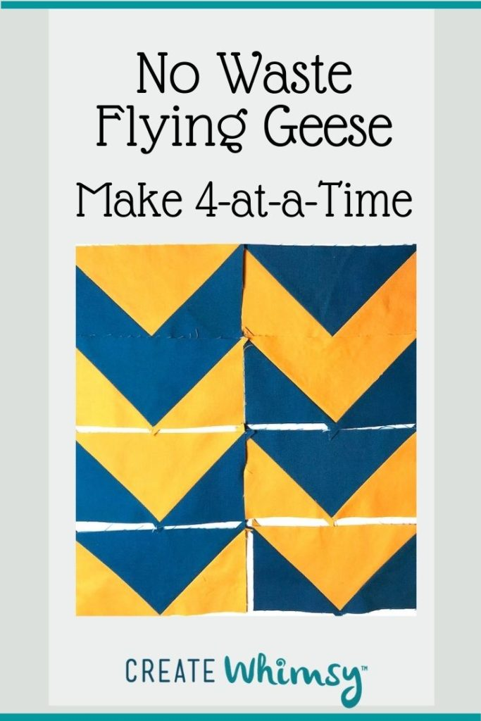 No Waste Flying Geese Pinterest Image 3