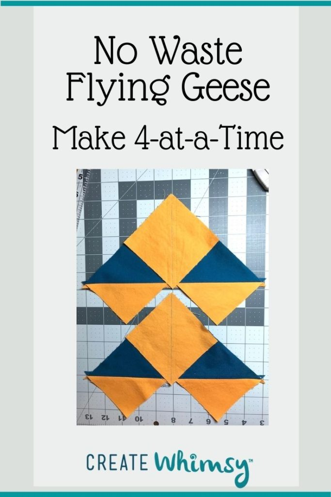 No Waste Flying Geese Pinterest Image 4