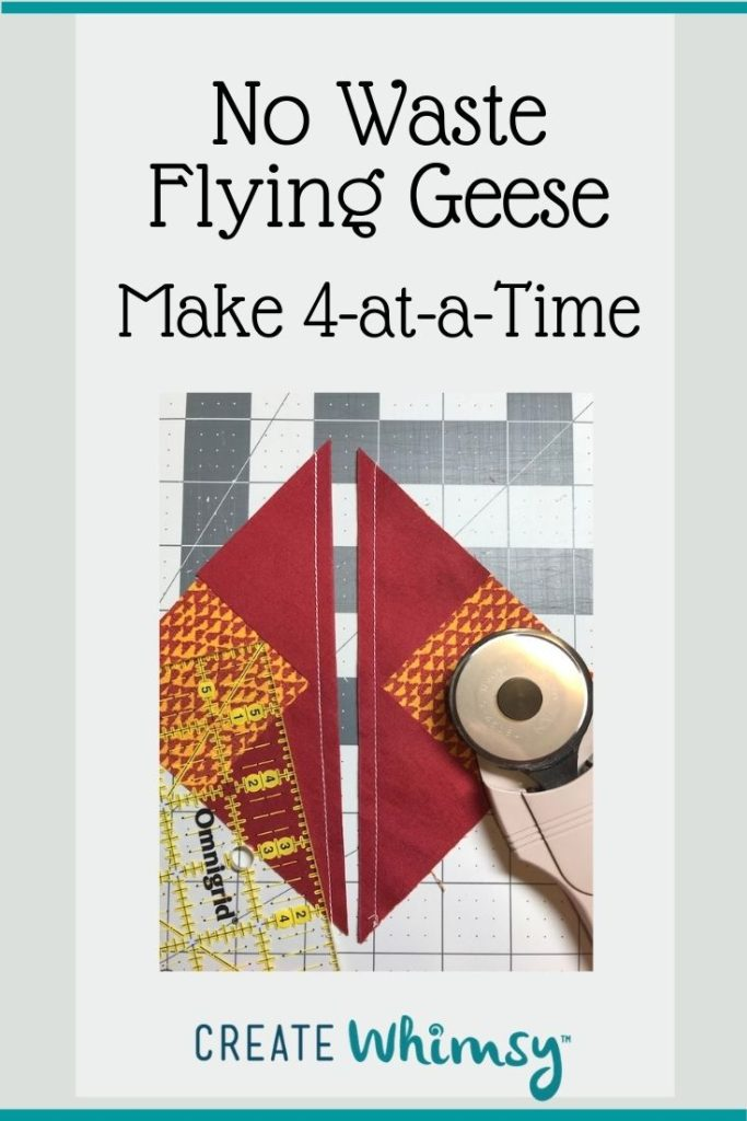 No Waste Flying Geese Pinterest Image 5