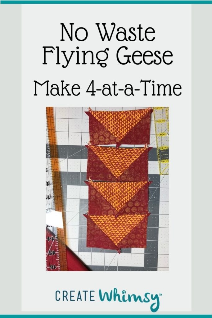 No Waste Flying Geese Pinterest Image 6