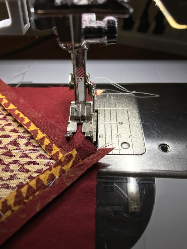 Sewing the blocks together