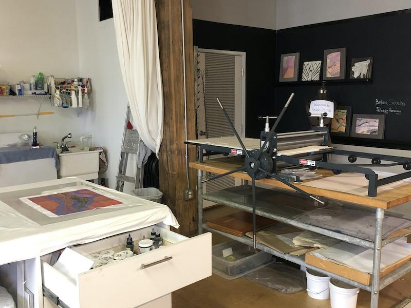 Barbara's printing press area