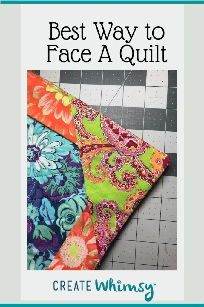 Best Way to Face a Quilt Pinterest Image 1
