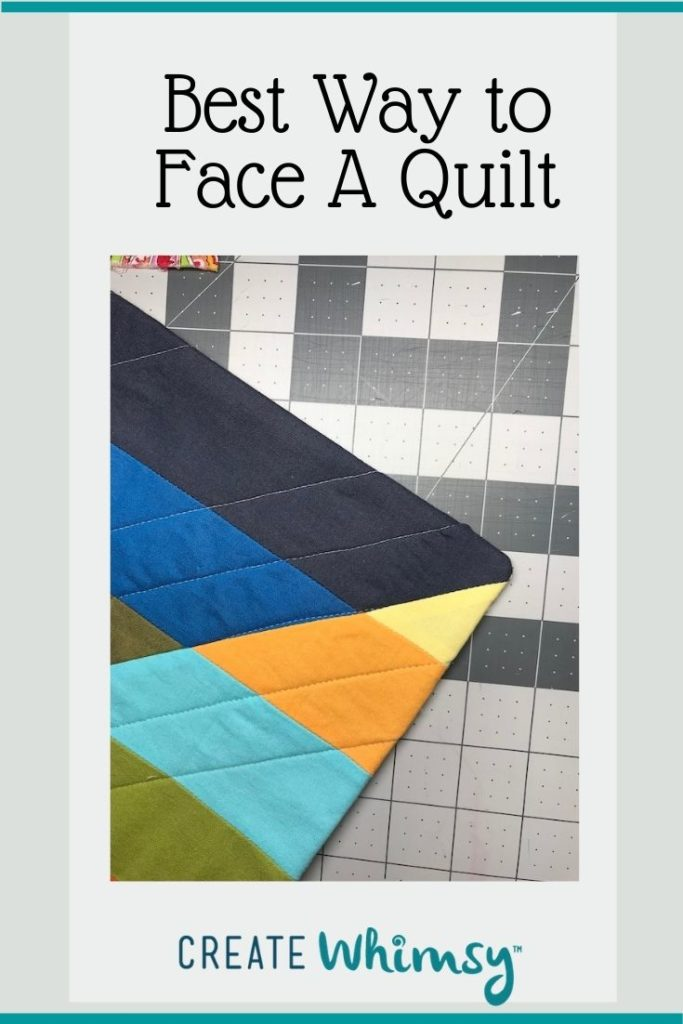 Best Way to Face a Quilt Pinterest Image 2