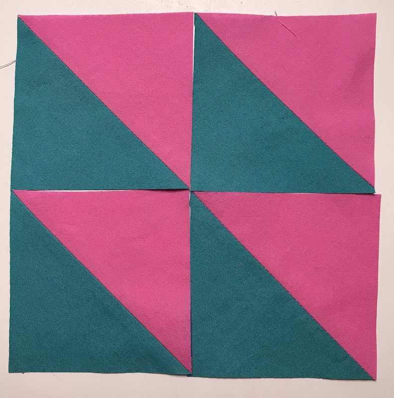 Half Square Triangles Four (4) At a Time