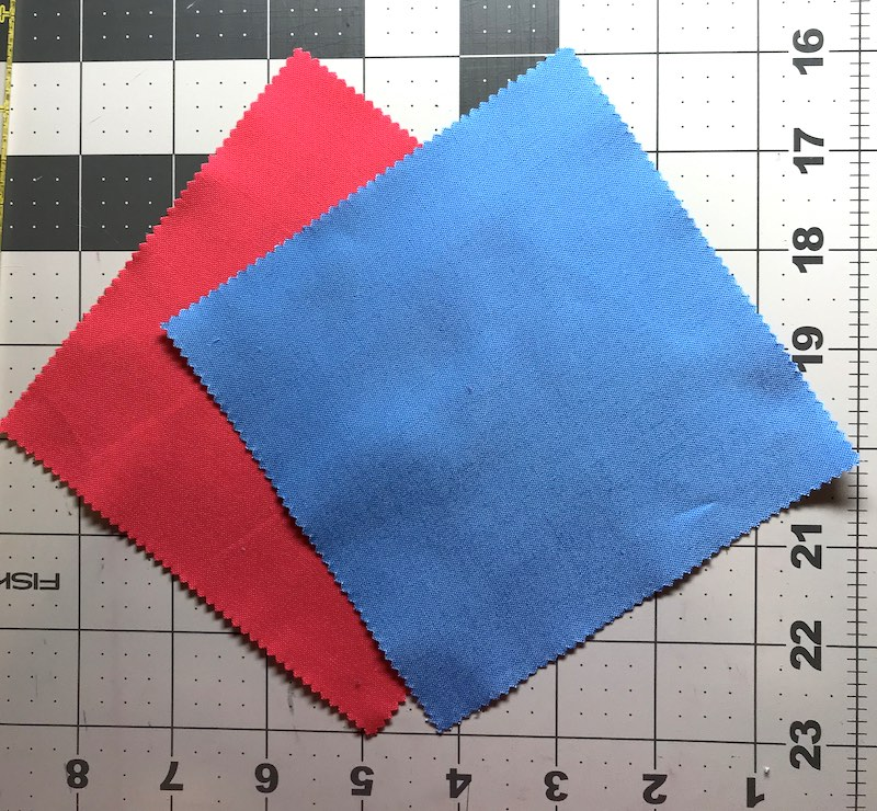 Half square triangles four at a time from a charm pack ready to sew