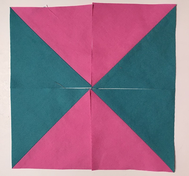 Layout option 2 for half square triangles four at a time