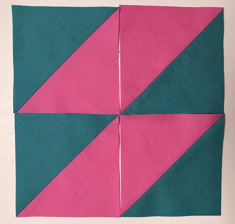 Layout option 4 for half square triangles four at a time
