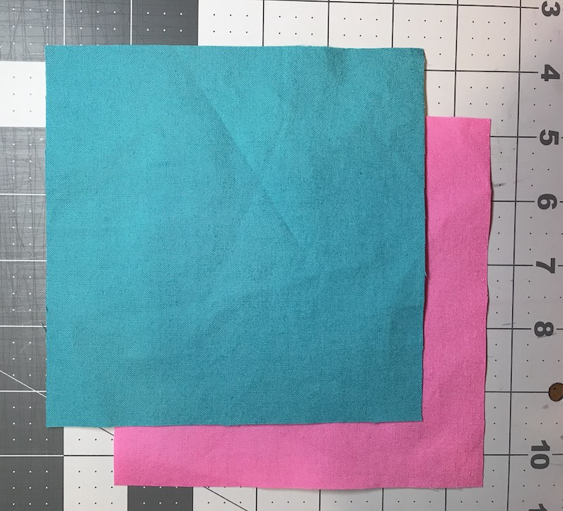 """Blocks cut to make half square triangles four at time for a finished 3"""" block"""