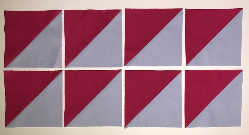 Making Half Square Triangles From Layer Cake